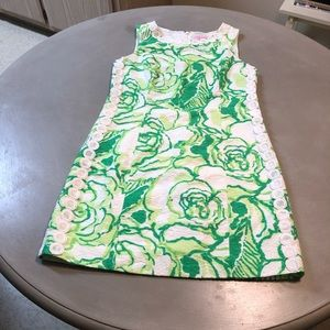 Lilly Pulitzer White and Green Summer Floral Dress